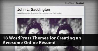 18 Temi WordPress per Curriculum Vitae on line