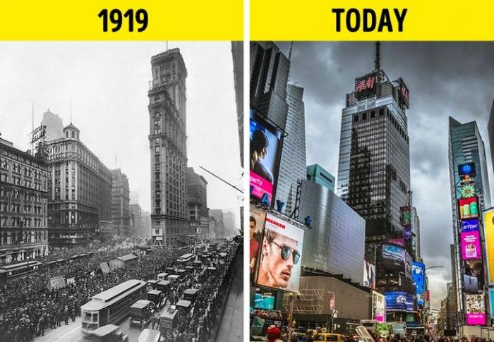 20 fotografie che ci mostrano come é cambiato il mondo negli ultimi 100 anni