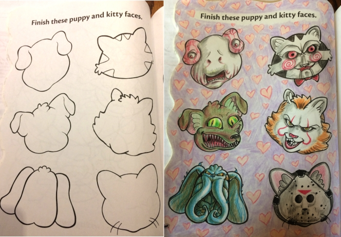 20 disegni da colorare rielaborati da adulti