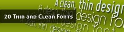 20 fonts sottili e puliti per il design