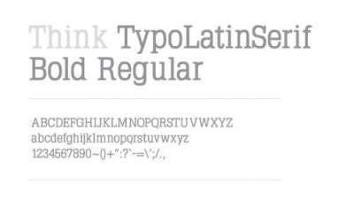 20 gradevoli fonts di tipo Serif