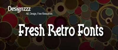 20 nuovi fonts di stile Retro