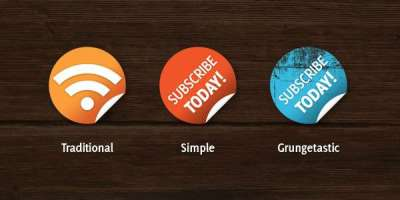 20 set di icone bottoni e badges in PSD