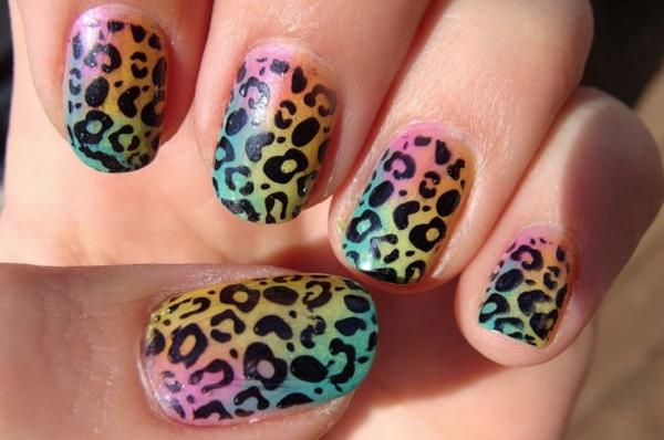 20 unghie pitturate come animali selvaggi