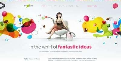 21 siti web luminosi e colorati