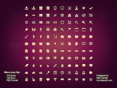24 set di icone pulite e minimali