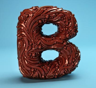 26 lettere dell'alfabeto create come pazze sculture
