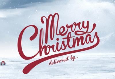 30 creative cartoline di Natale di tipo tipografico