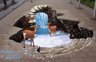 30 incredibili street art in 3D