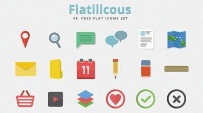 30 spettacolari e gratuiti set di icone flat