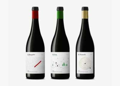 35 bottiglie stilose di vino