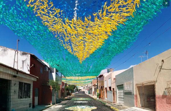 35 e oltre strade brasiliane dipinte per i Mondiali 2014
