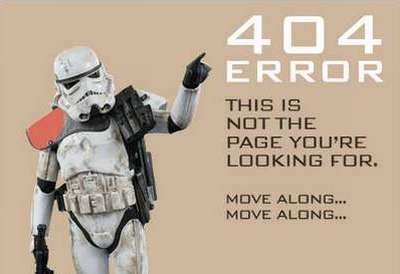 35 esempi di 404 error pages