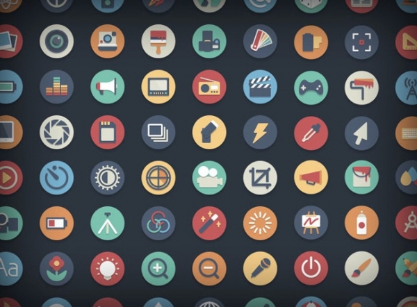 384 bellissime icone vettoriali in stile flat