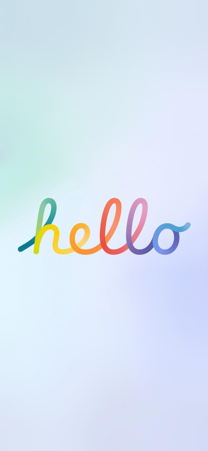3 sfondi per iPhone, iPad e Desktop dedicati a Hello dei nuovi iMac