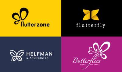 40 creativi loghi a tema farfalle