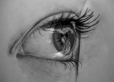 40 disegni a matita realistici di occhi umani
