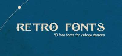 40 fonts gratis per designs vintage e retro