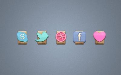 40 icone sociali ben disegnate