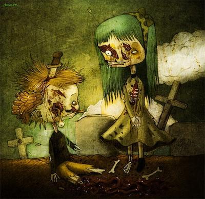 40 immagini artistiche ed orribili di zombie