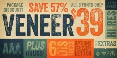 40 perfetti fonts in stile retro