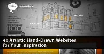 40 siti web dalla grafica a mano libera
