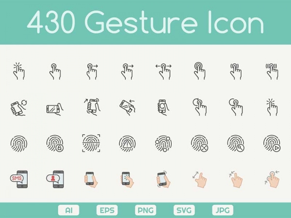 430 Icone gratuite per il controllo