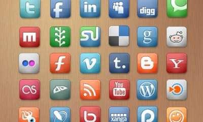 44 raccolte di set di icone di Social Media