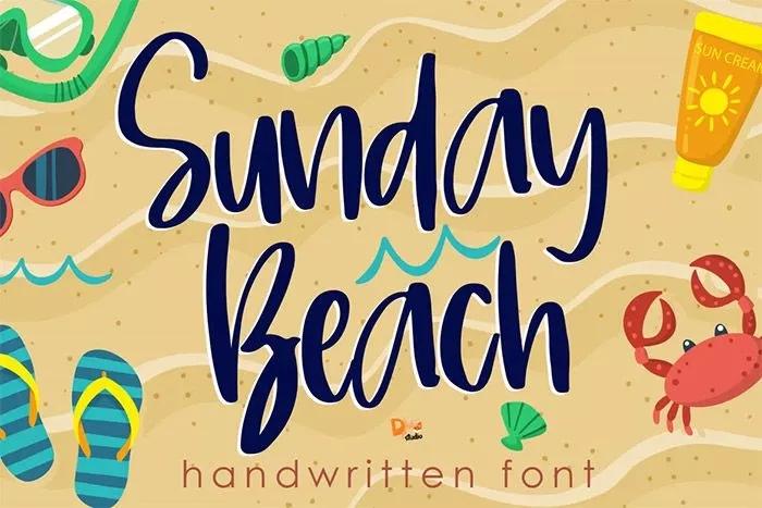 45 Beach Fonts per progetti a tema estate