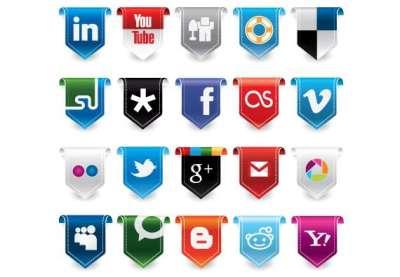 45 set di icone gratis di Social Media