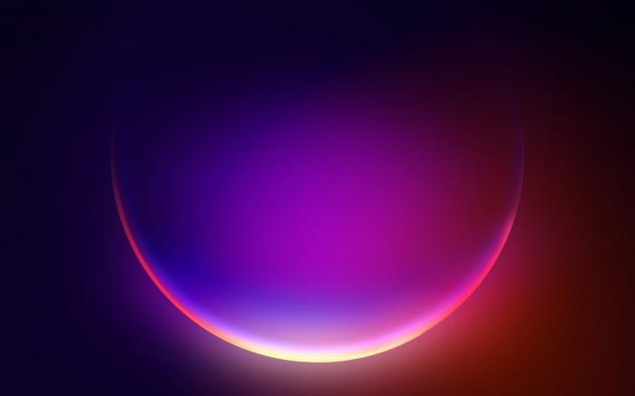 4 sfondi astratti effetto neon di Windows 11
