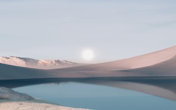 4 Sfondi ufficiali a tema lago di Windows 11 in alta definizione