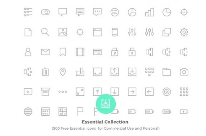 500 icone in vettoriale da scaricare gratis