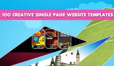50 creativi siti web a singola pagina in html5 e jquery