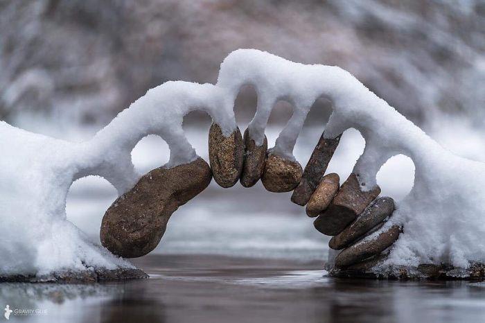 50 e oltre fotografie di neve dalle forme strane