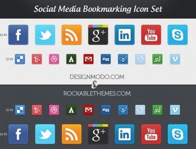 50 e oltre icone sociali per designers