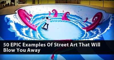 50 epici esempi di street art