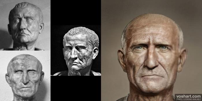 54 volti di imperatori romani ricostruiti al computer