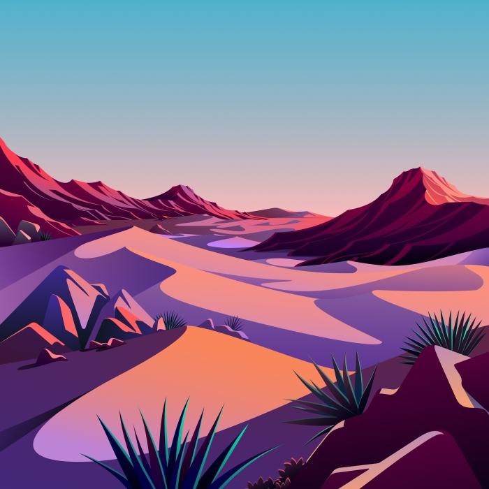 5 sfondi ufficiali di The Desert di Apple