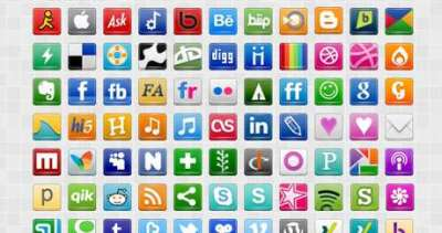 60 icone di social media