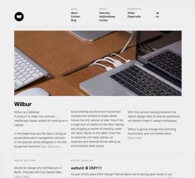 60 siti web puliti e minimali