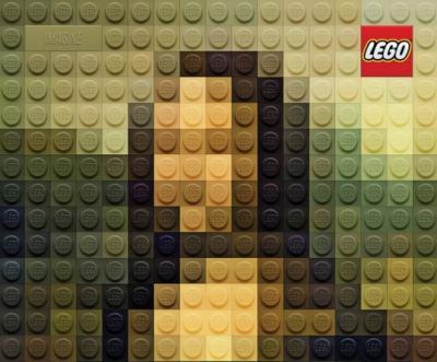 6 quadri famosi riprodotti con i lego