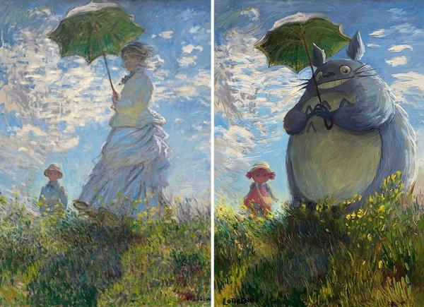 7 e oltre dipinti famosi trasformati in opere Geek