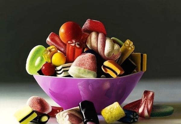 7 stupendi e realistici dipinti dedicati alle caramelle