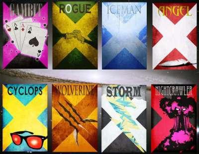 8 poster minimalisti dei personaggi di Xmen