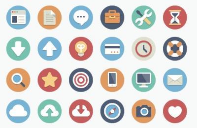 90 bellissime icone piatte per temi eleganti