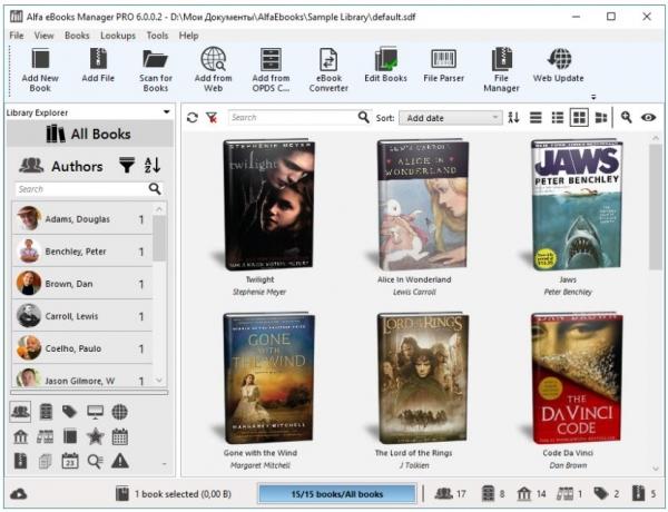 Alfa eBooks Manager