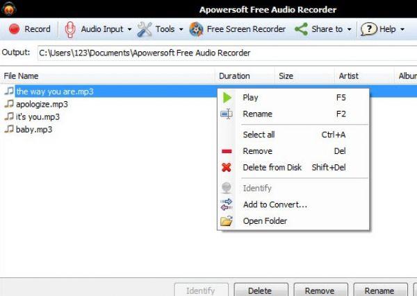 Apowersoft Audio Recorder