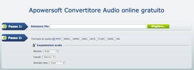 Apowersoft Convertitore Audio online gratuito