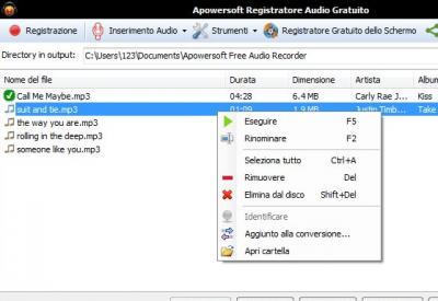 Apowersoft Registratore Audio Gratuito